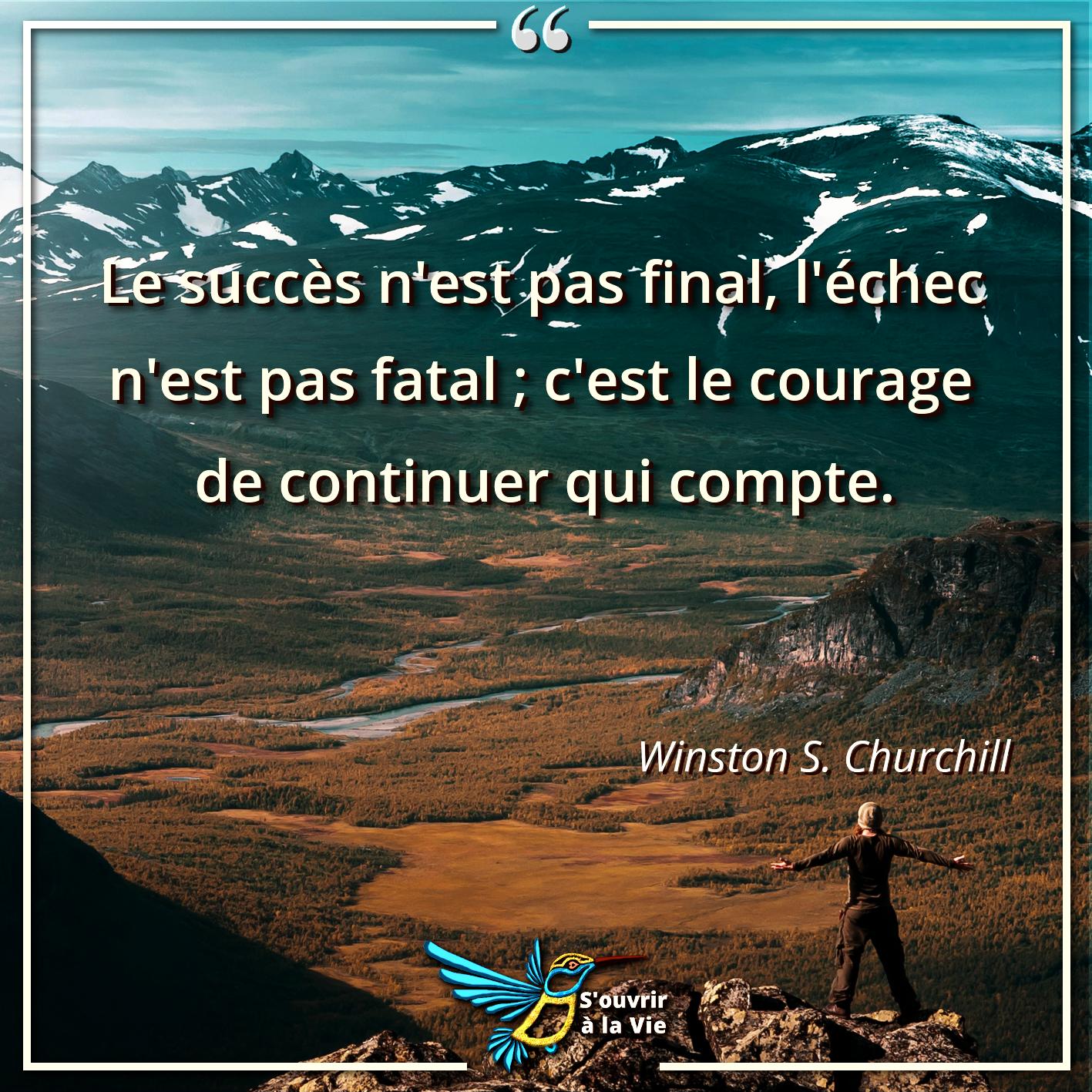 Les succès n'est pas final, l'échec n'est pas fatal, c'est le courage de continuer qui compte. http://bit.ly/2es1u1T