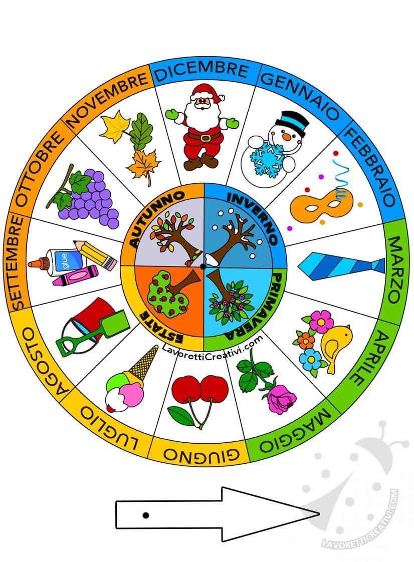 Costruire Calendario Scuola Infanzia.Costruire La Ruota Dei Mesi E Delle Stagioni Scuola Primaria
