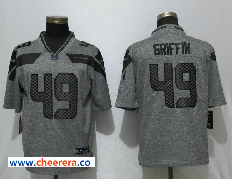 newest collection 7bcc4 63cfc Nike Seattle Seahawks 49 Shaquem Griffin Gray Gridiron Gray ...