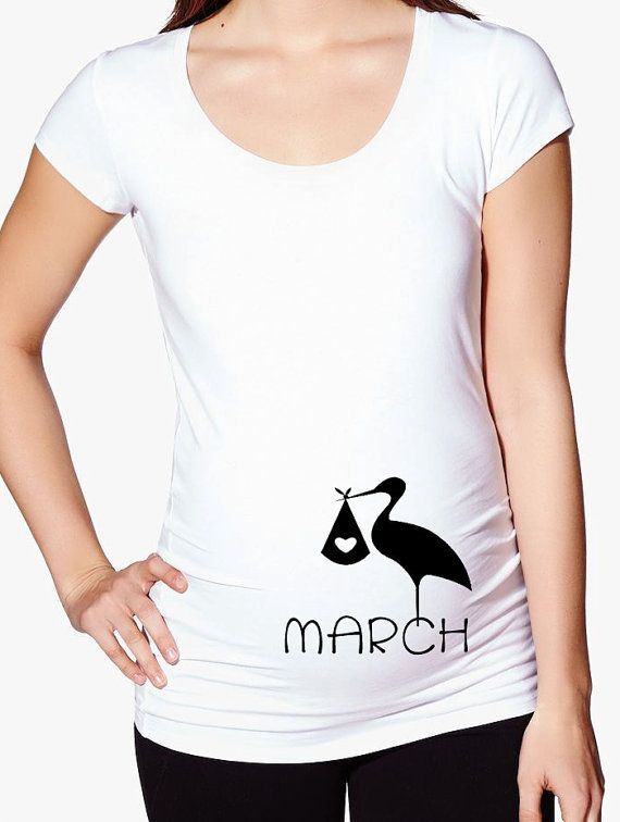 4d8fc7d7 Pregnancy Reveal Annoucement T Shirt stork month by jennisita328 ...