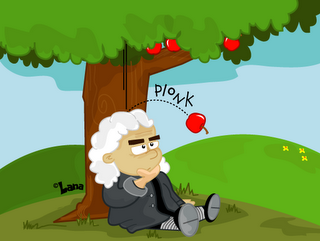 Issac Newton first thought up the idea of gravity when he saw an apple fall  from a tree. This new concept gave Newton the ide… | Isaac newton, Facts  for kids, Isaac