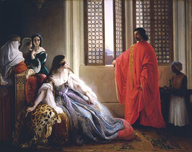 Francesco Hayez (1791-1882) Caterina Cornaro Relieved as Cyprus' Queen, 1842 Oil on canvas - 121 ...