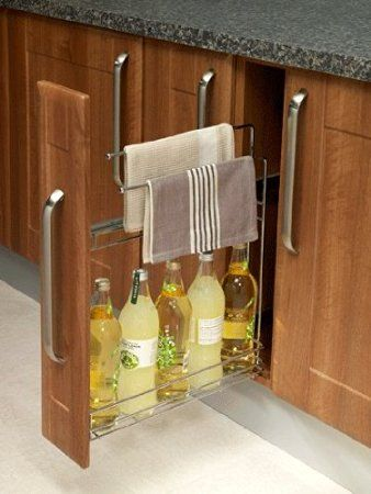 Towel Rail Pull Out Kitchen Base