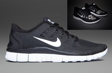 ... Nike Free 5.0+ Shield - Mens Running Shoes - Black-Reflective Silver-Summit  ...