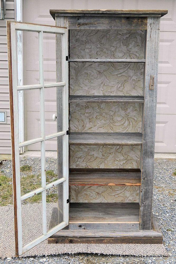 Primitive Old Door Window Cabinet. $225.00 via Etsy. & Primitive Old Door Window Cabinet. $225.00 via Etsy. | Things I ...