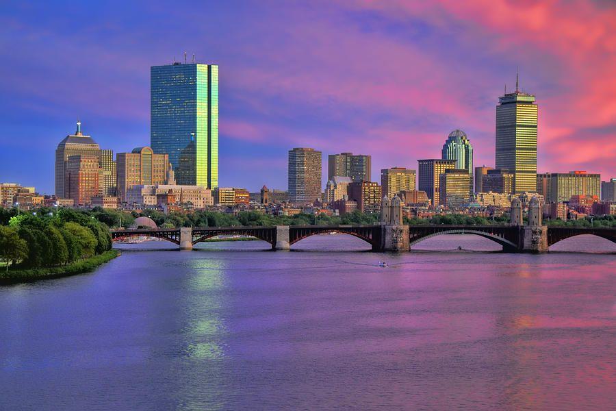 Boston Pastel Sunset By Joann Vitali Pastel Sunset Landscape Photography Boston Skyline