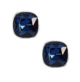 Product: Napier® Blue and Silvertone Button Clip Earrings
