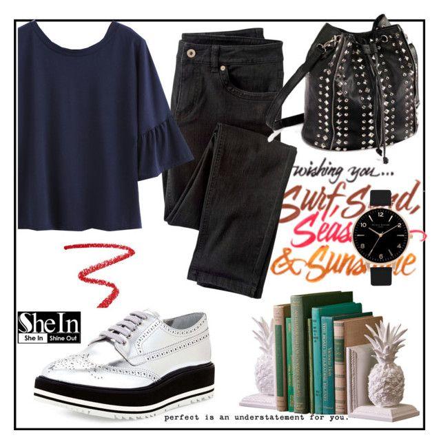 """sheinside"" by ajsajunuzovic ❤ liked on Polyvore featuring NARS Cosmetics, Prada, Wrap and Olivia Burton"