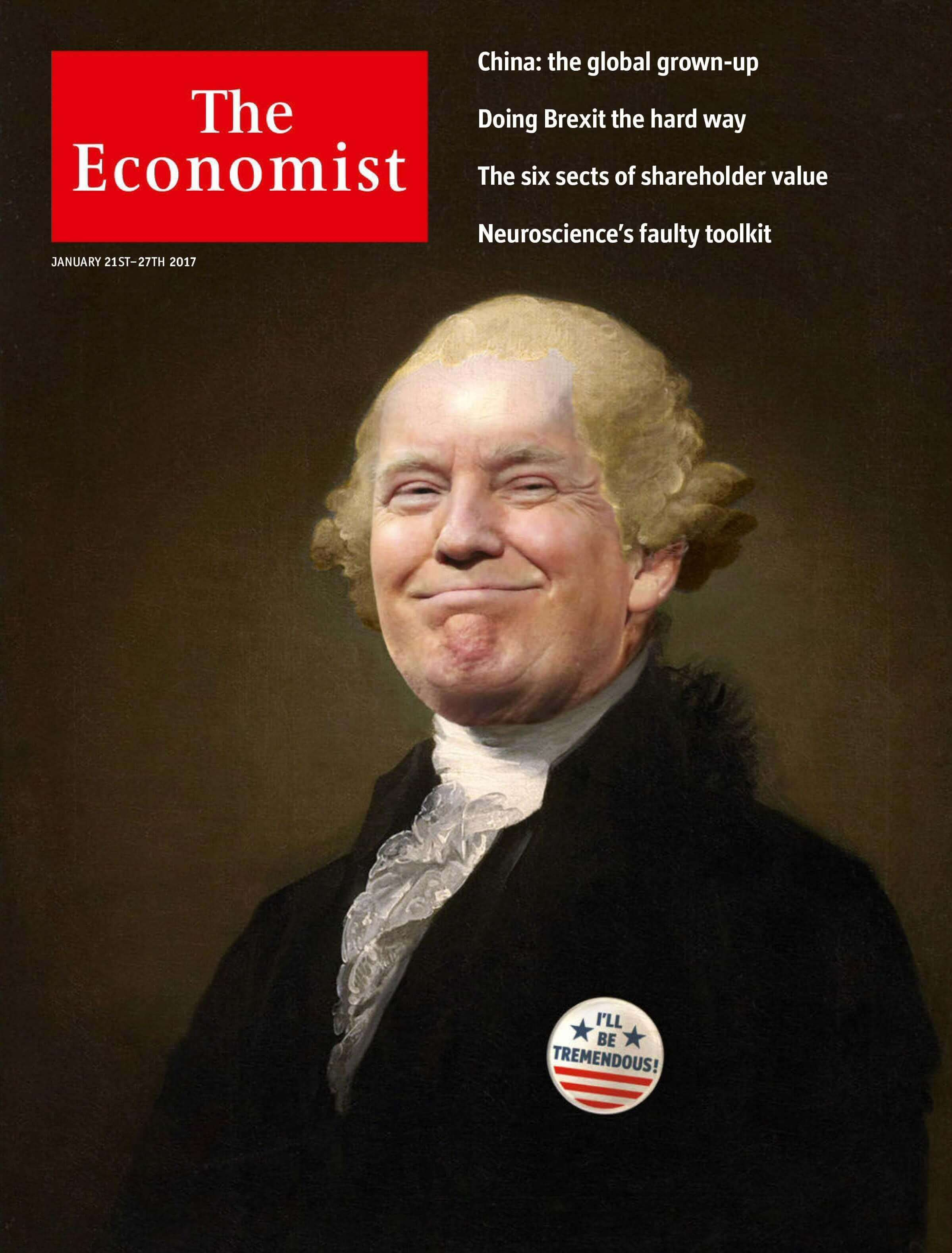 Donald Trump As George Washington On The Cover Of The