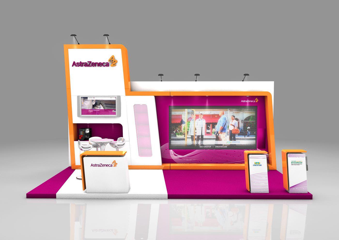 Astrazeneca Exhibition Booth On Behance Exhibition Booth Booth Design Booth Decor
