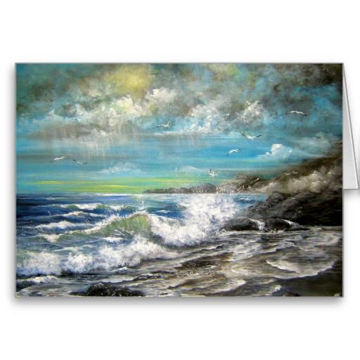 Seascape Design Cards