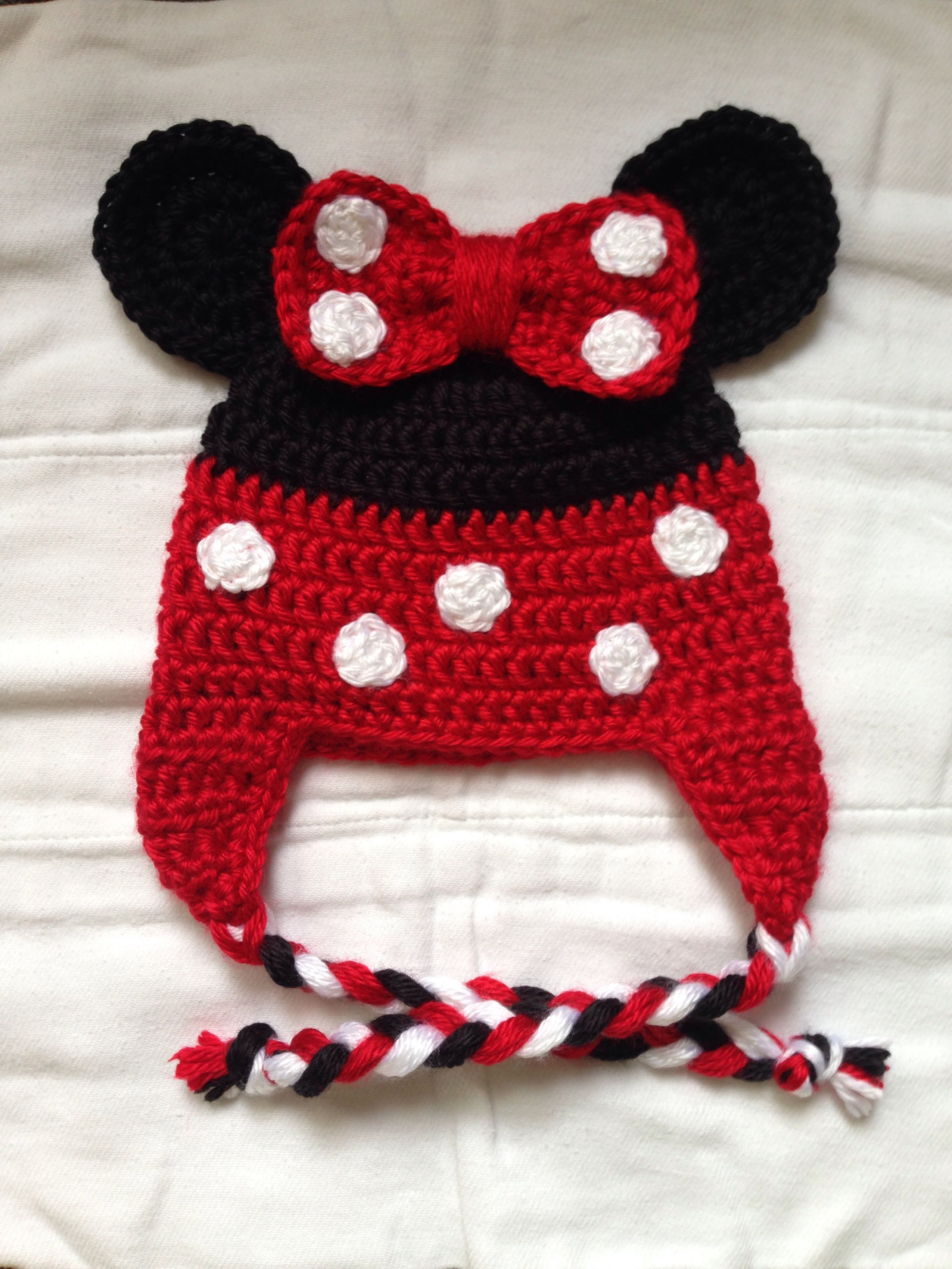 Minnie Mouse crochet hat | My crochet projects | Pinterest