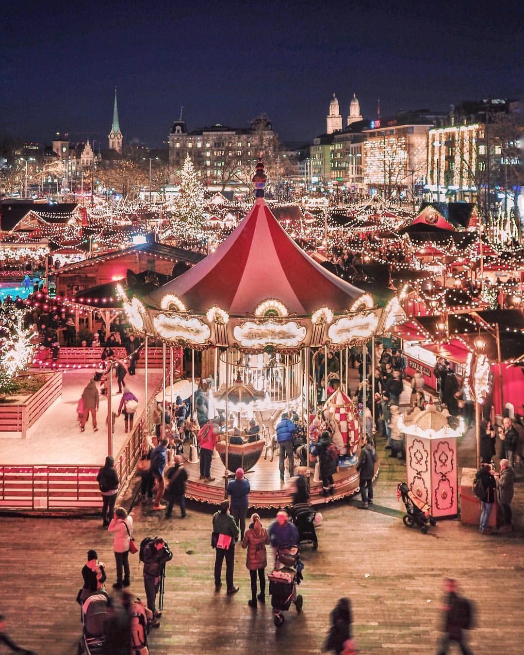 Christmas Market At The Opera House In Zurich Christmas Travel Destinations Switzerland Christmas Switzerland In Winter