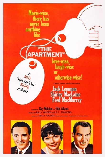 The Apartment Us Poster Art From Left Jack Lemmon Shirley Maclaine Fred Macmurray 1960 Movie