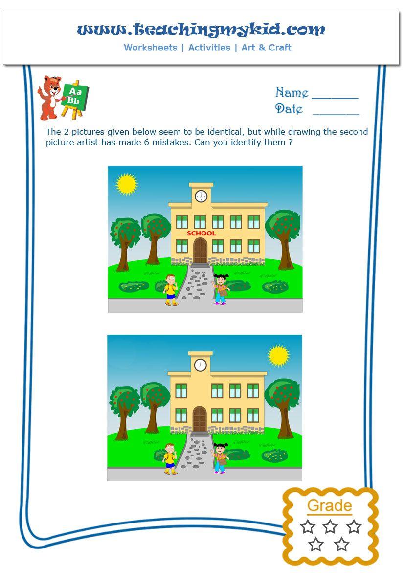 Find the Mistakes – Worksheet -1 | TeachingMyKid.com | Pinterest ...