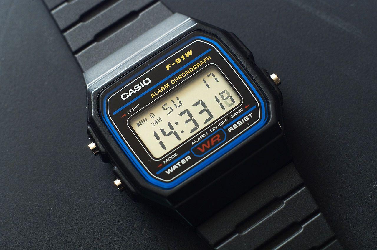 Vuelve a lo clásico con el reloj digital vintage Casio F 91W