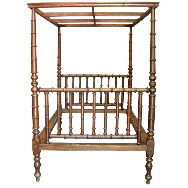 Best Four Poster Bed With Canopy England 19Th Century With 400 x 300