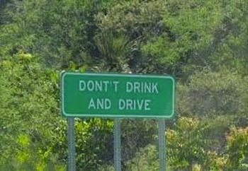 Hmmm, think the person who wrote this sign might have been guilty of having a drink or two! That's right you're seeing double, 'dont't' instead of 'don't'.