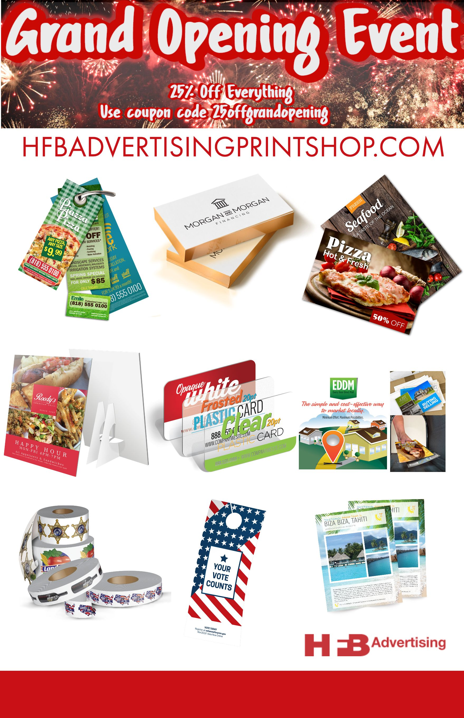 Grand Opening Event Online Print Shop Full Color Offset