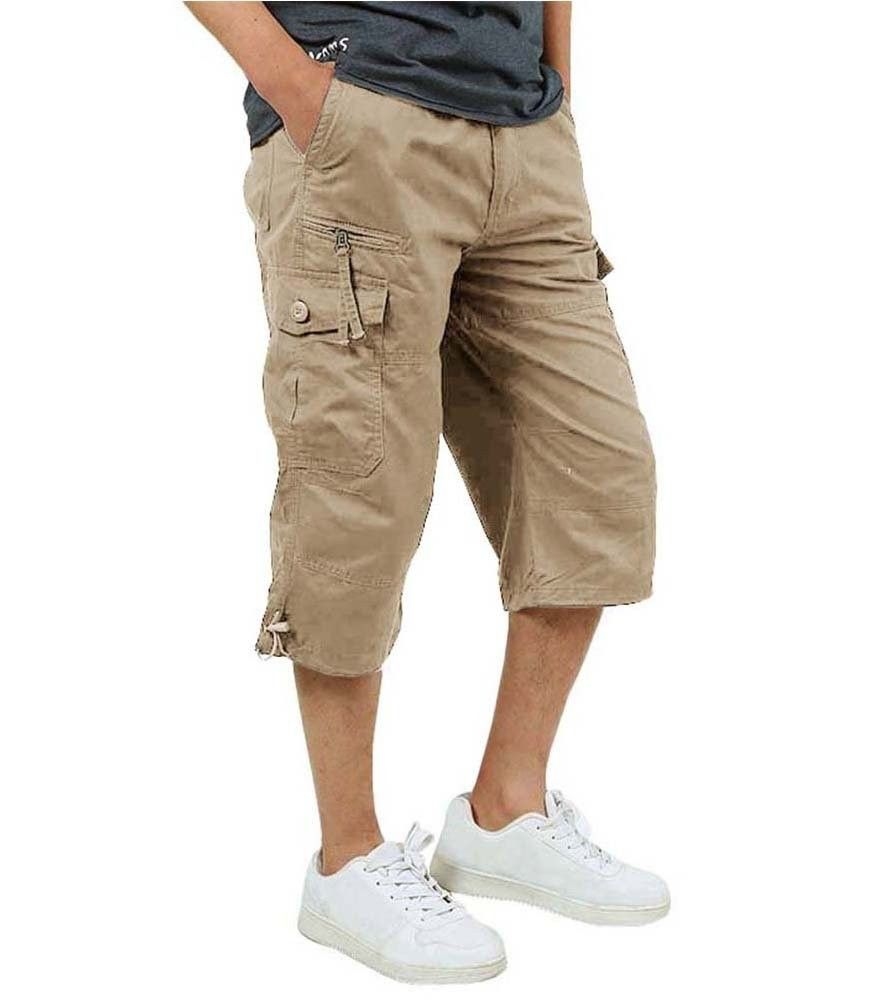 ROBO Mens Summer Cargo Shorts Casual Loose Multi-Pocket Lightweight Shorts