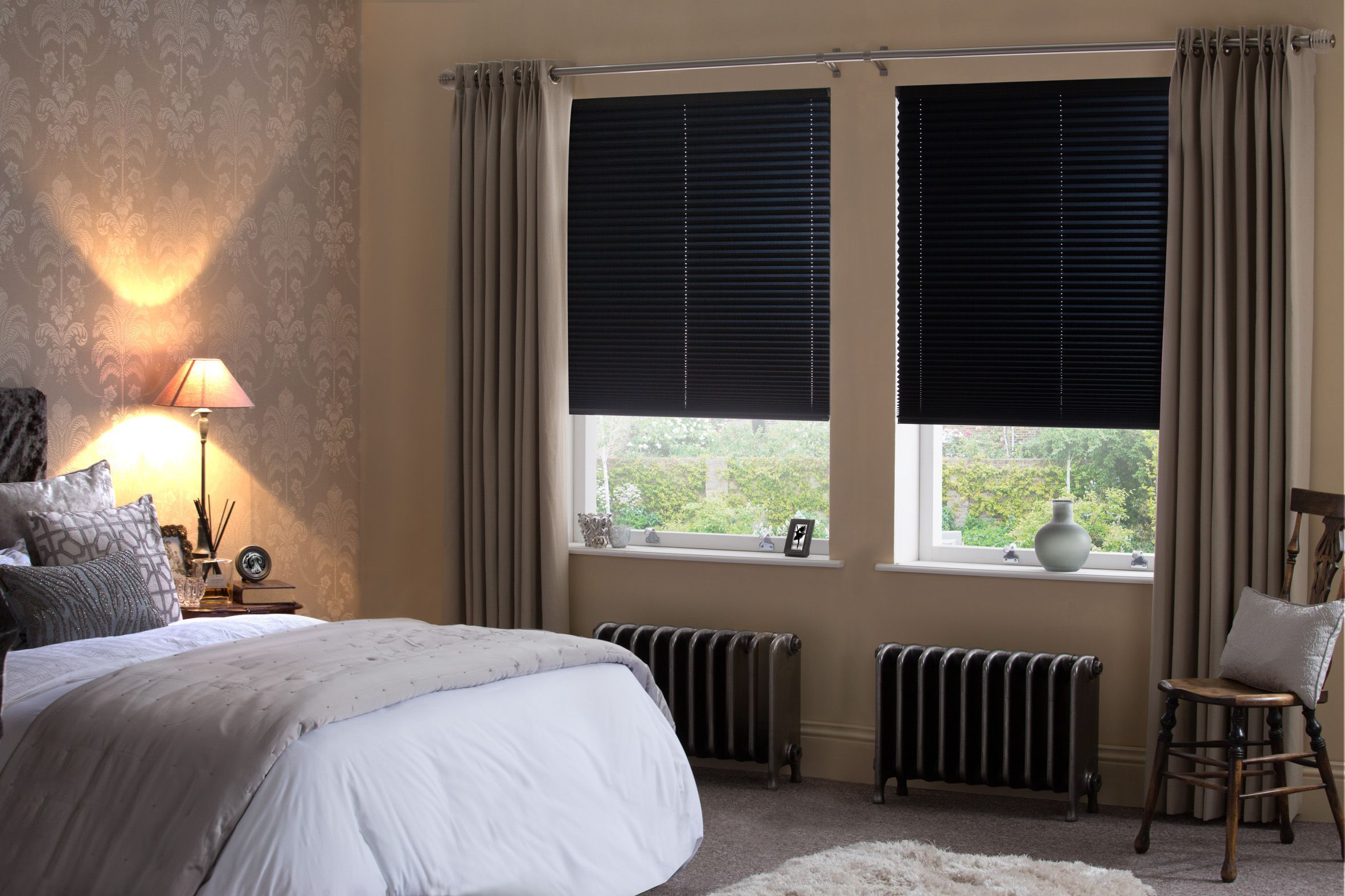 Pleated Black Out Bedroom Blinds From Style Studio Bedroom Blinds Best Blinds For Summer Black Blind Living Room Blinds Blinds Design Modern Window Dressing