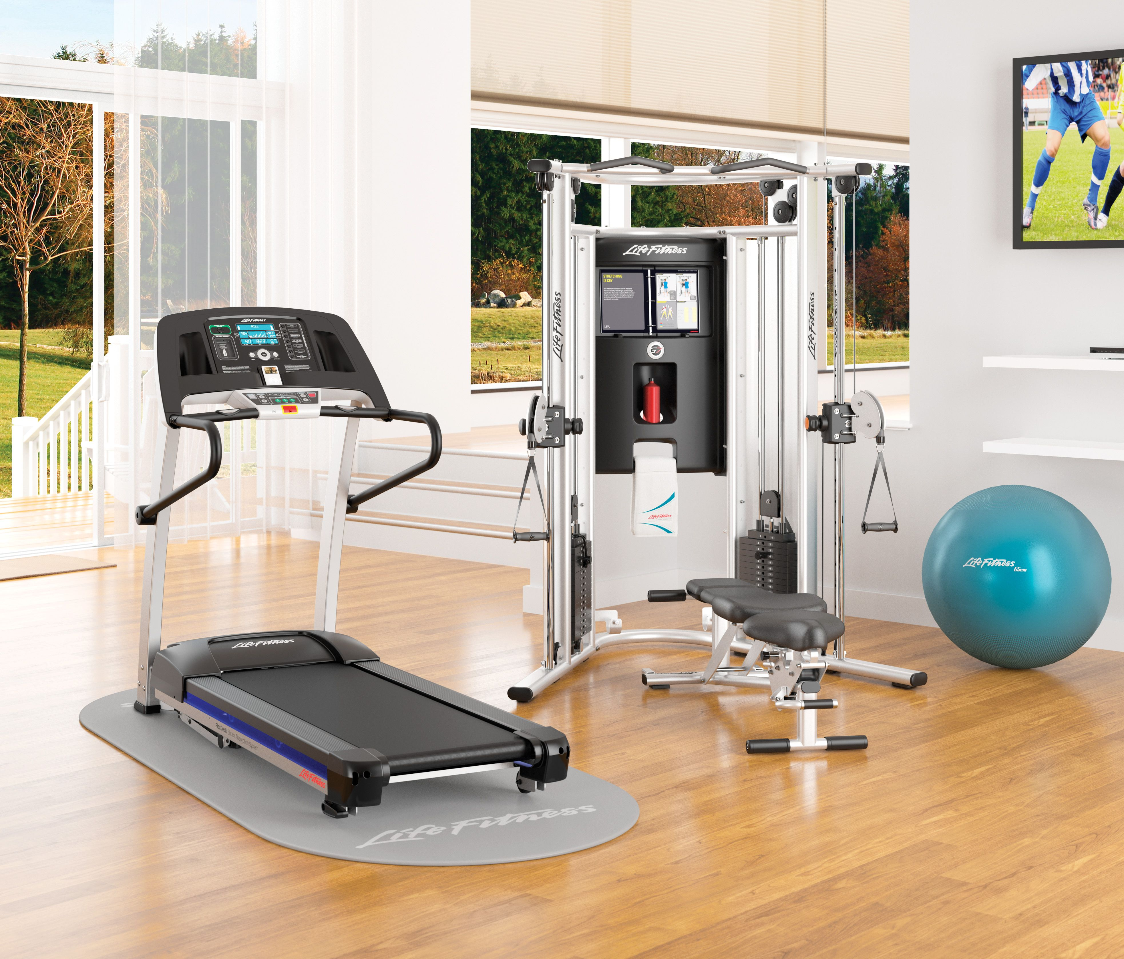Life fitness f treadmill g multigym life fitness at home