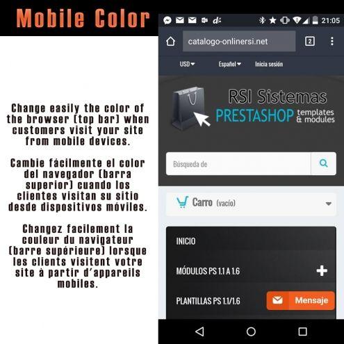 Mobile Color - PrestaShop Module | Mobile, Color, Window color