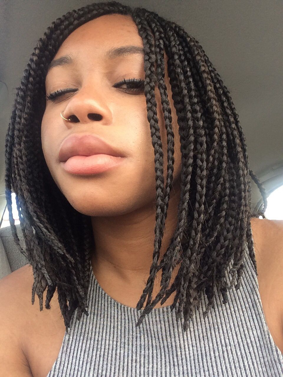 Shoulder Length Box Braids By Shelby Mugeche On Hair Short Box