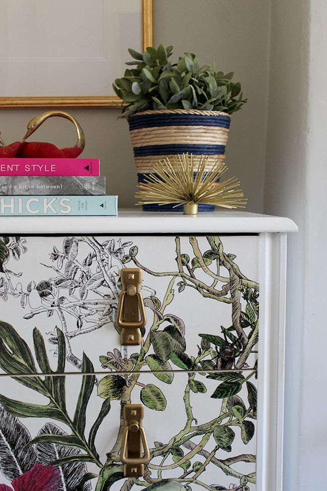 DIY Wallpapered Chest of Drawers Diy wallpaper