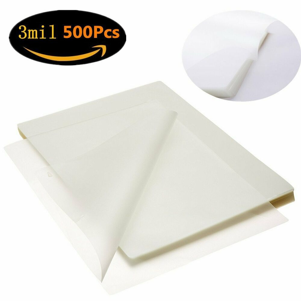 Sponsored Ebay 500 Sheets 9 X 11 5 Clear Letter Size Thermal Laminating Pouches 3 Mil Rounded Laminated Machine Ebay Letter Size