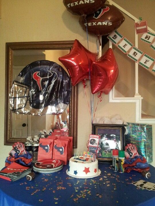 Houston Texans Houston Texans Party Texans Baby Shower Football Theme Party