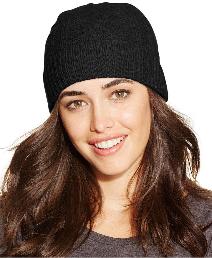 91d0040dbd116 Charter Club Cable Cashmere Cuff Hat