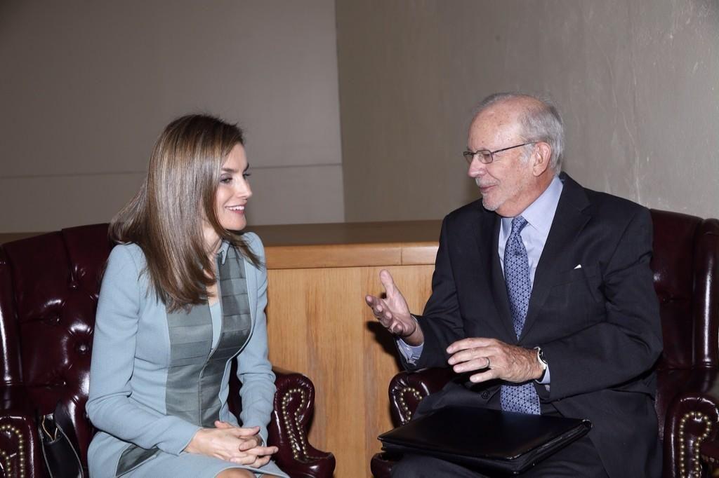 Foro Hispanico de Opiniones sobre la Realeza: La reina Letizia con el director de UNICEF, Anthony Lake