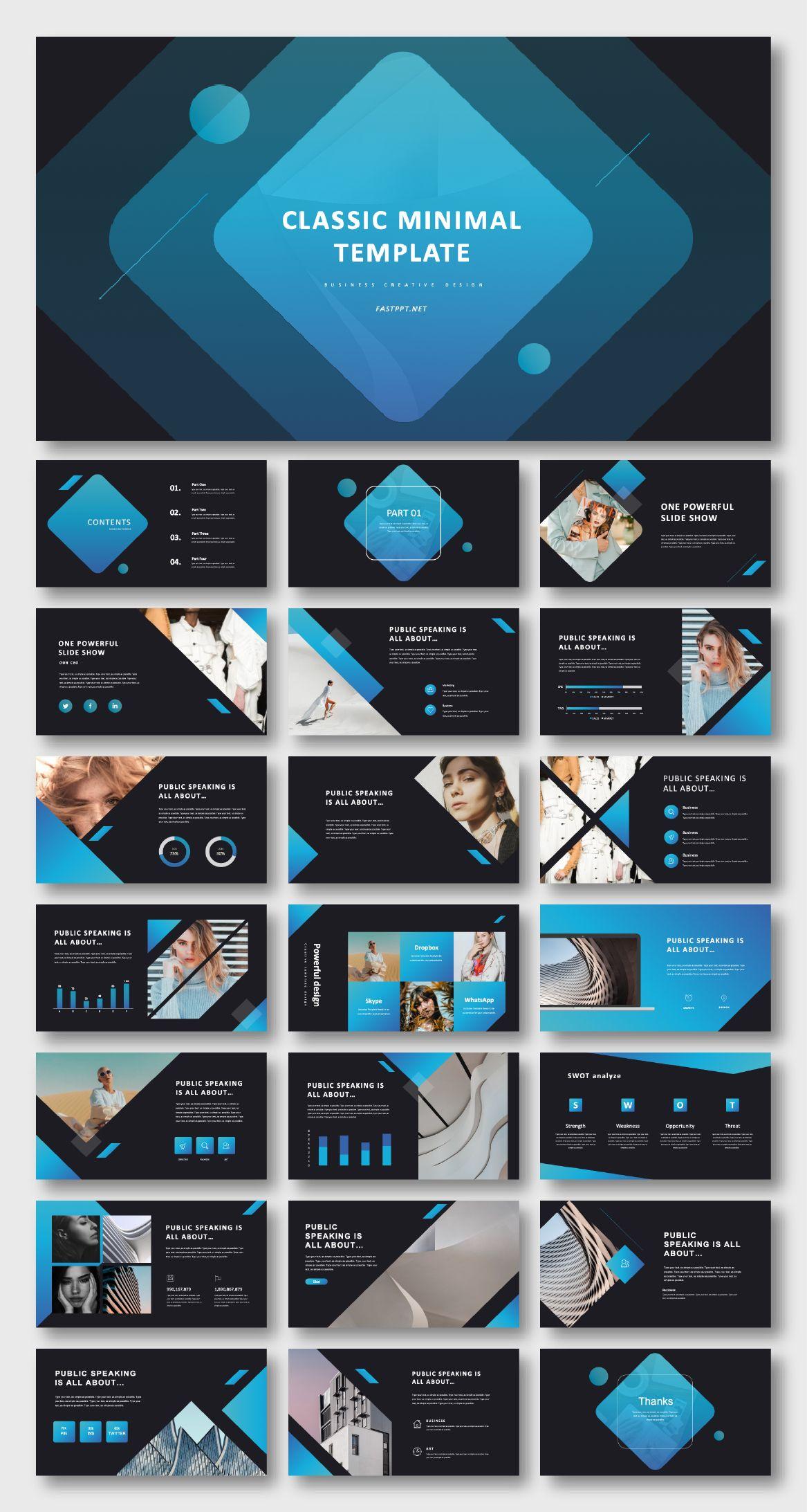 Annual Report Multipurpose Powerpoint Template Shablony Power Point Maket Prezentacii Dizajn Prezentacii