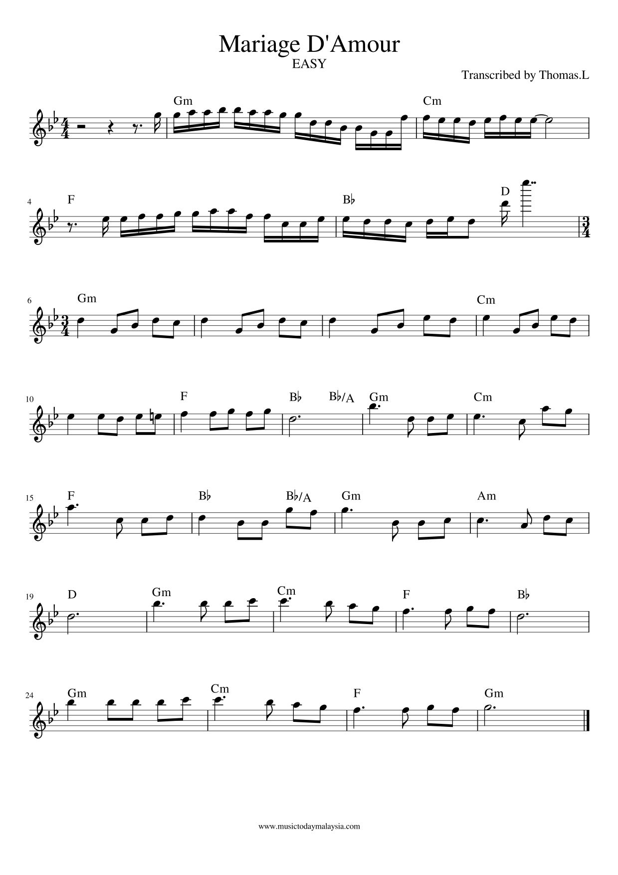 Mariage D Amour Free Piano Sheet Top 10 Classical Piano Song