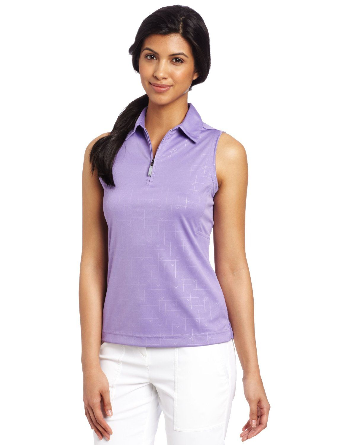 This Shrink Resistant Womens Sleeveless Core Golf Polo Shirt By