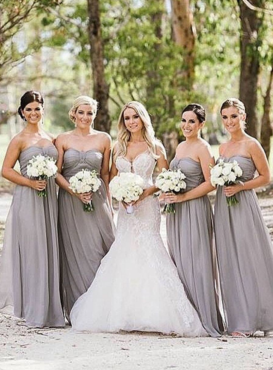 Gorgeous bridemaids in gray neutral wedding story pinterest gorgeous bridemaids in gray ombrellifo Choice Image
