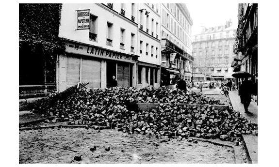 ©Michel Baron. Rue Racine, París 25 de mayo de 1968 para Arqueológica en @mataderomadrid