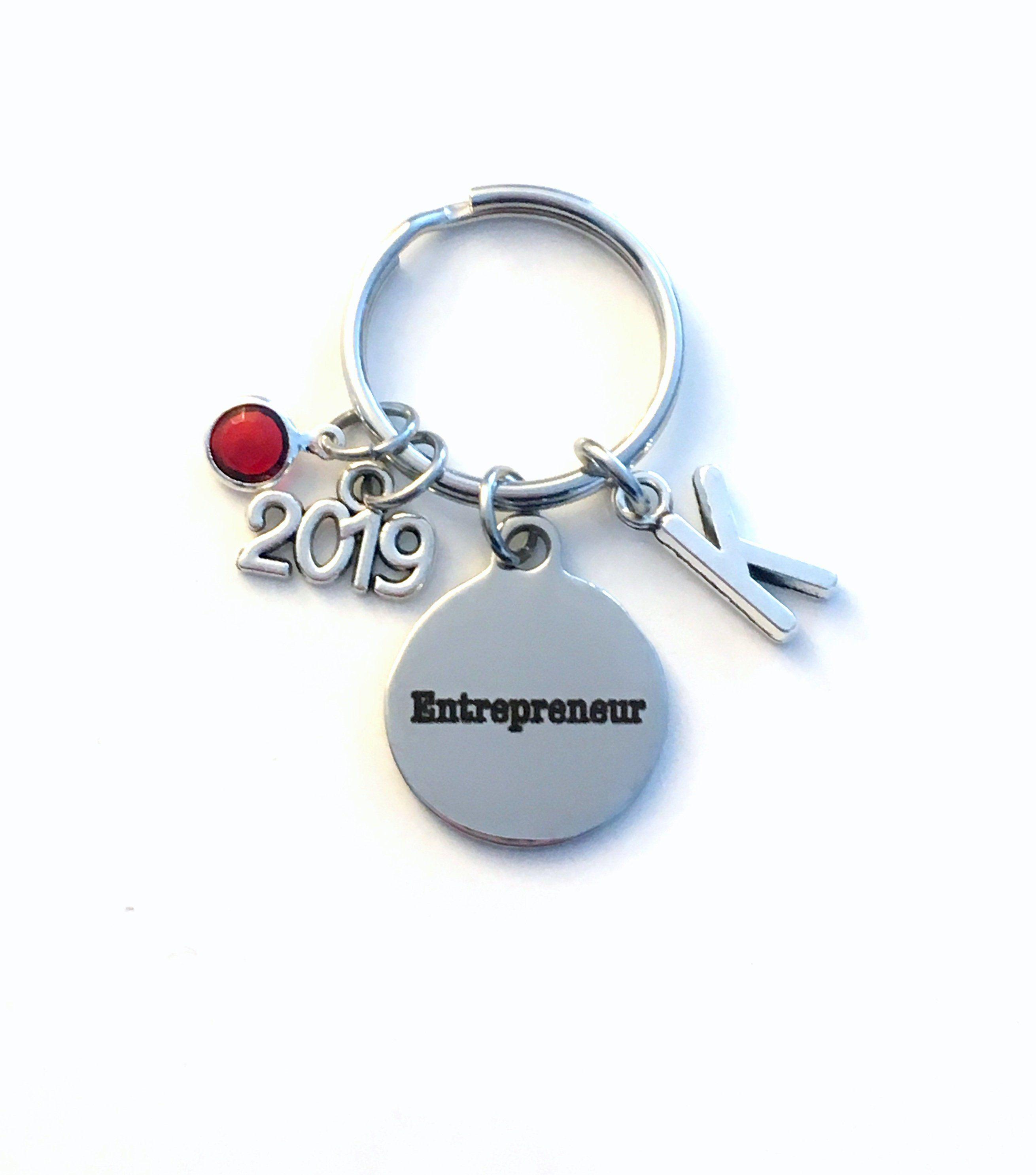Gift for new business owner keychain 2019 entrepreneur