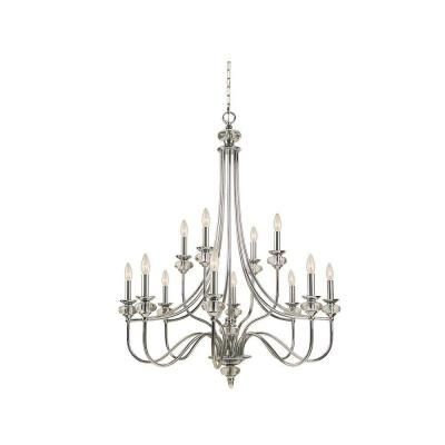 hampton bay chandeliers | Hampton Bay Nottinghill Collection 12-Light Chrome Chandelier