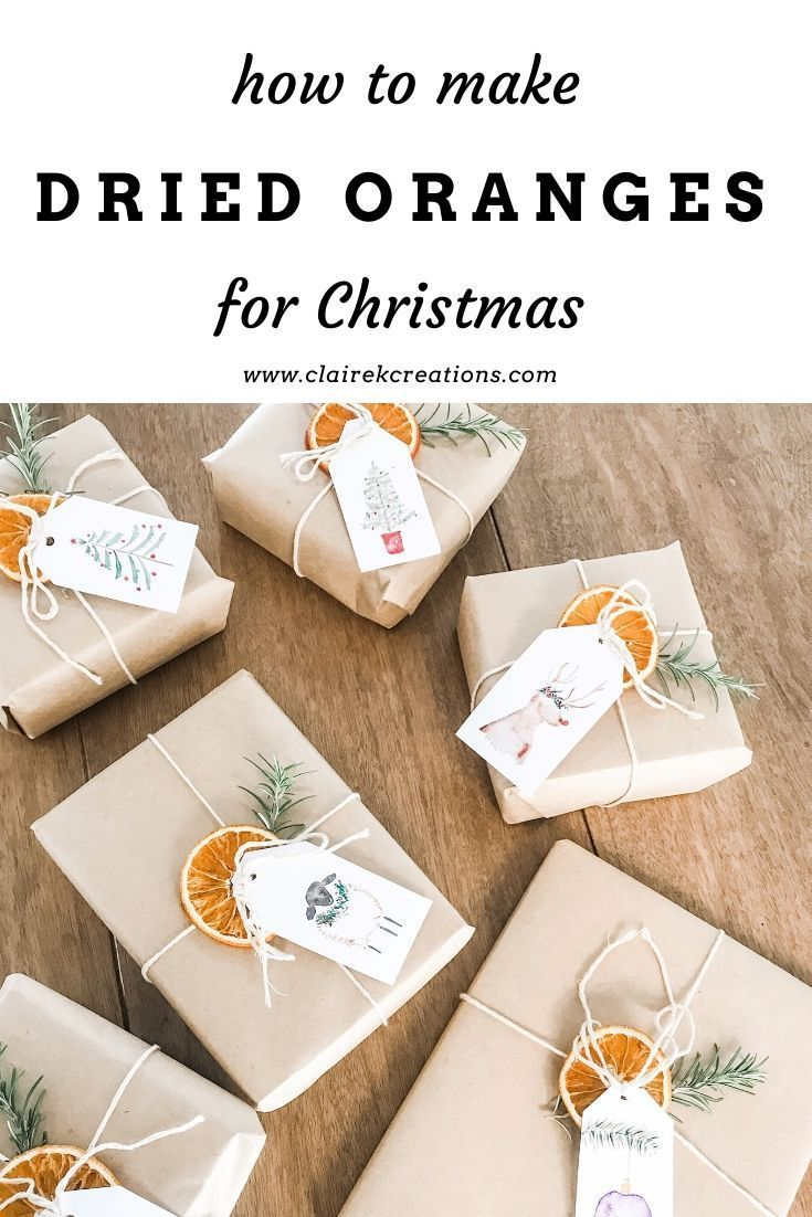 How to make dried oranges for Christmas