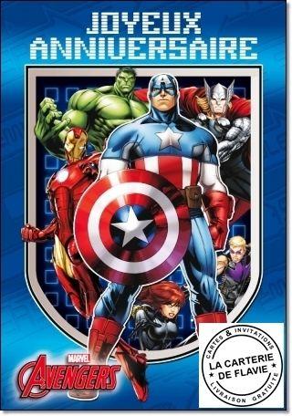 Épinglé par Carterie Flavie sur Cartes Anniversaire Avengers | Carte anniversaire, Anniversaire ...