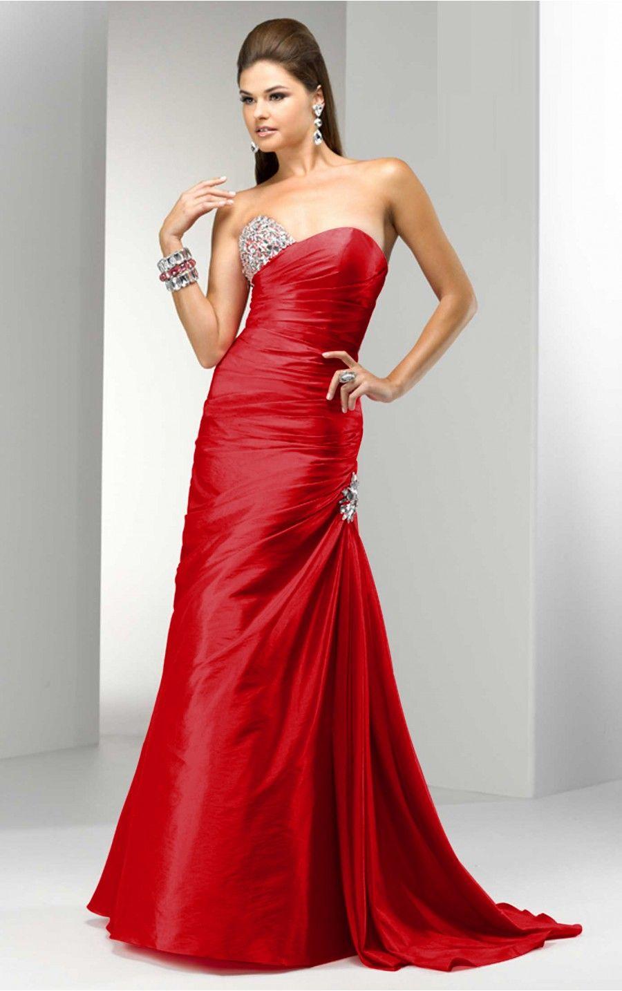 Red Evening Dresses | Evening Dresses | Pinterest | Red formal ...