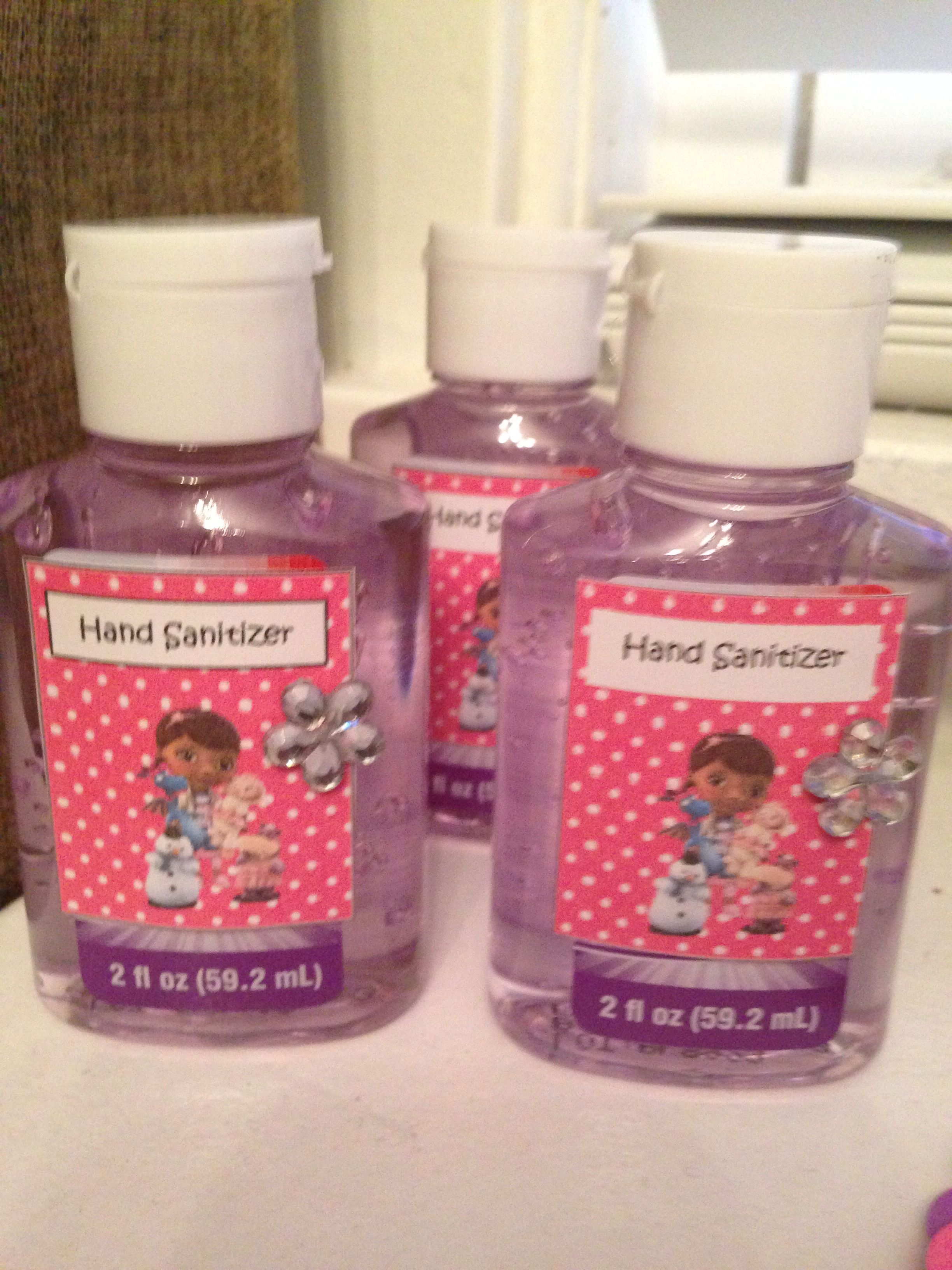 Doc Mcstuffin Hand Sanitizer Made For My Daughters Party