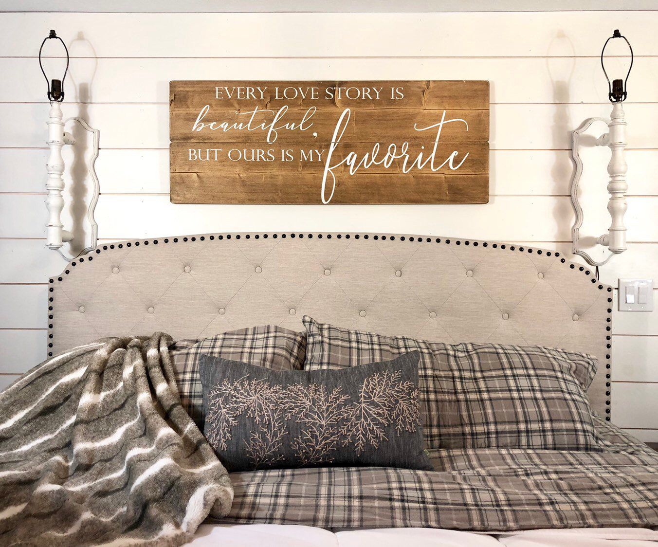 Bedroom Wall Decor Every Love Story Is Beautiful But Our Is My Favorite Big Bedroom Sign Rustic Wood Si Wall Decor Bedroom Rustic Wood Signs Big Bedrooms