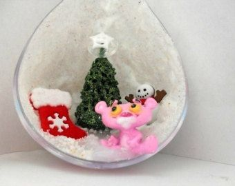Pink Panther Christmas Ornament https://www.etsy.com/listing/205411861/pink-panther-christmas-ornament?ref=market $20