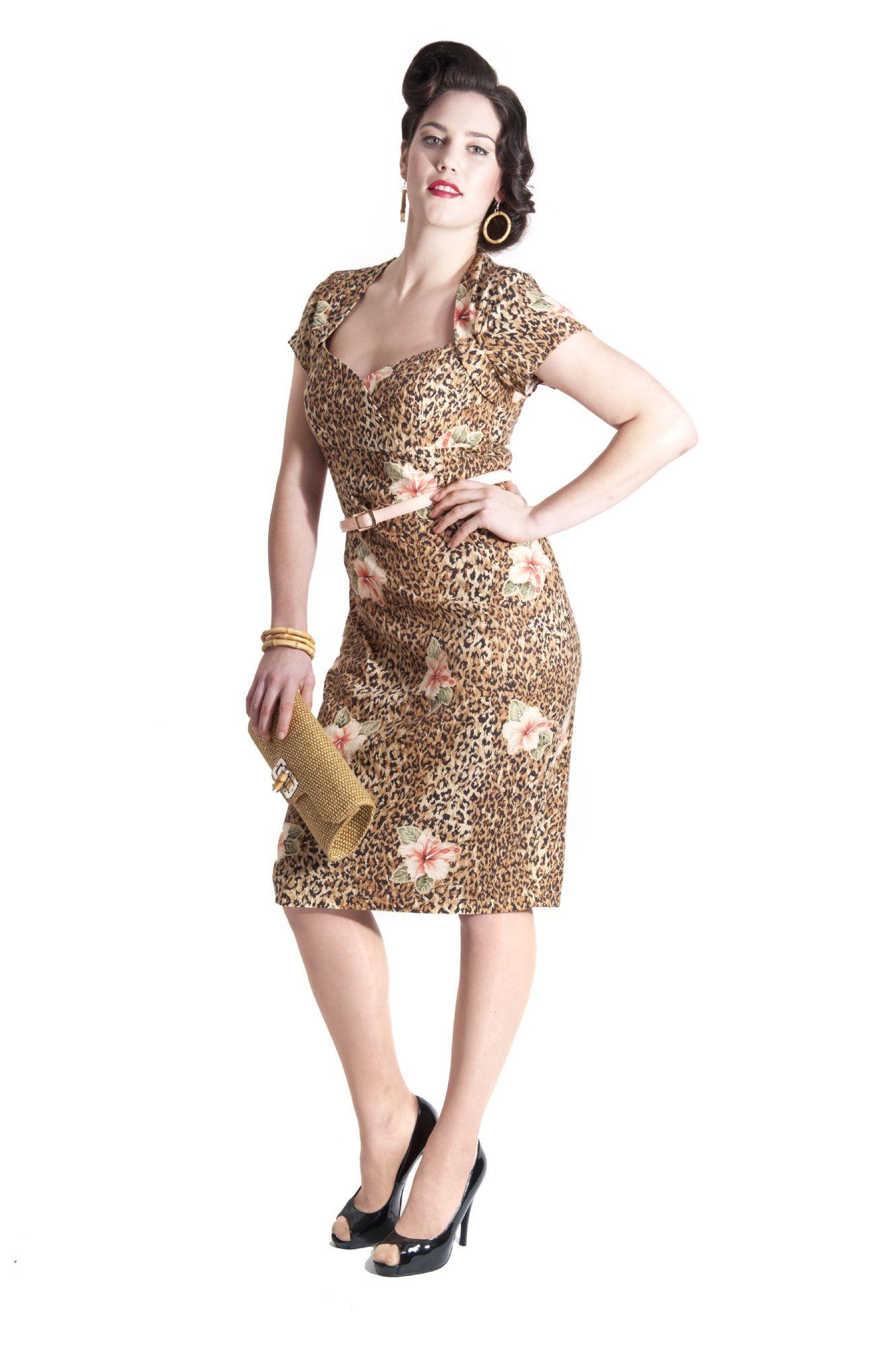 Collectif Leopard Tiki Print Dress size 2X - $85 | My BST Board ...
