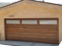 Garage Door With Windows Can T Have Windows But Like The Wood Modern Garage Doors Contemporary Garage Doors Modern Garage