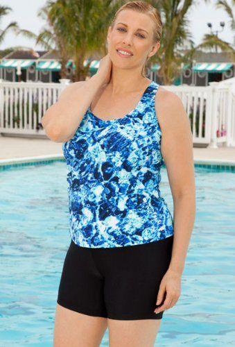 09dc8e0d63 Abstract Water Racer Back Bike Shortini Women's Swimwear Aquabelle. $47.84