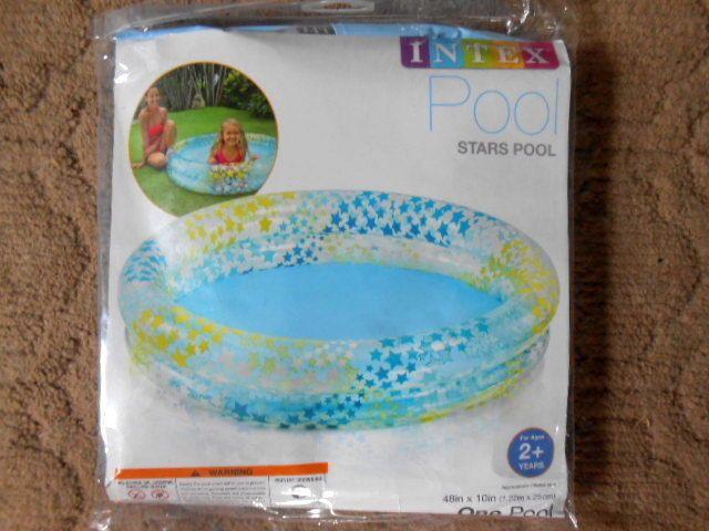 Intex Inflatable Stars Kiddie 2 Ring Circles Swimming Pool (48 X 10 )  #Intex
